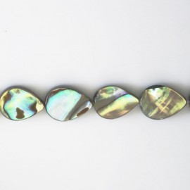 Abalone 10x14 mm goutte plate