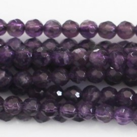 BeauMonde Jewelry - Amethyst 4 mm round faceted bead