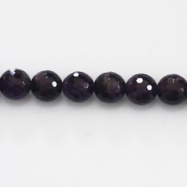 BeauMonde Jewelry - Amethyst 8 mm round faceted bead