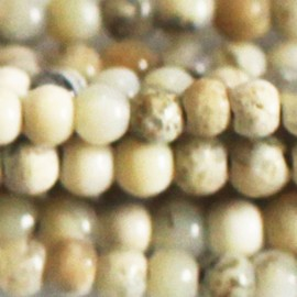 Opale blanc 3 mm perle ronde