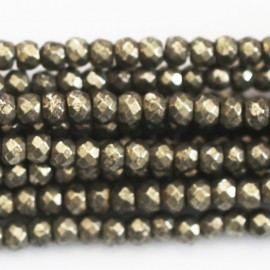 Pyrite 4 x 3 mm washer faceted