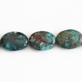 Chrysocolle 12x16 mm ovale plat