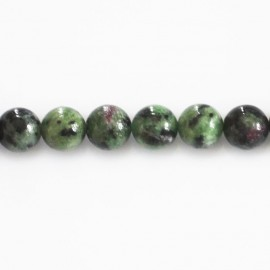 Rubyzoisite 8 mm perle ronde