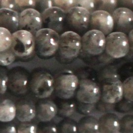 BeauMonde Jewelry - Labradorite black round bead 3 mm