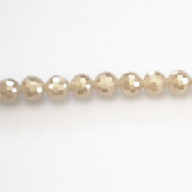 BeauMonde Jewelry - Bead 6 mm glass faceted round
