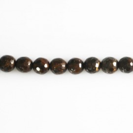 BeauMonde Jewelry - Bronzite 6 mm bead round faceted