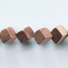 BeauMonde Jewelry - Rosewood 10 mm diagonal cube