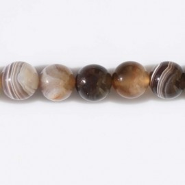 BeauMonde Jewelry - Agate Botswana 12 mm round bead