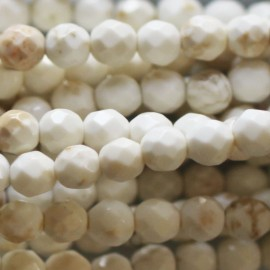 BeauMonde Jewelry - Magnesite 4 mm white round faceted