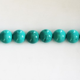 BeauMonde Jewelry - Howlite 8 mm round bead (new turquoise)