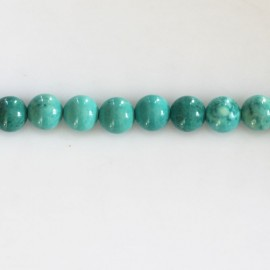BeauMonde Jewelry - Howlite 6 mm round bead (new turquoise)