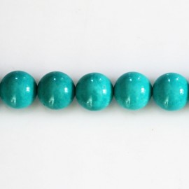 BeauMonde Jewelry - Howlite 10 mm round bead (new turquoise)