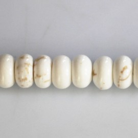 Howlite 5 x 8 mm ivory washer