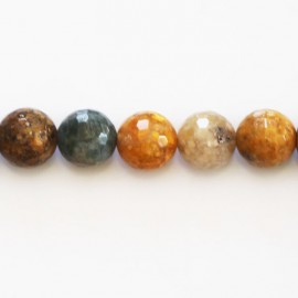 BeauMonde Jewelry - Agate 10 mm natural faceted round bead