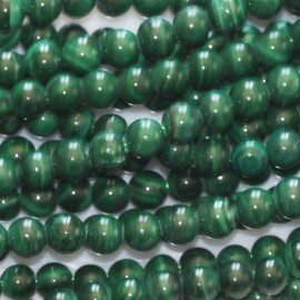 BeauMonde Jewelry - Malachite 3 mm round bead
