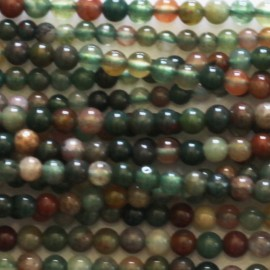 BeauMonde Jewelry - Agate India 2 mm round bead