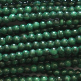 Malachite 2 mm round bead