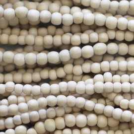 Wooden bead 5 mm white round