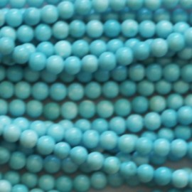 Howlite turquoise 3 mm perle ronde