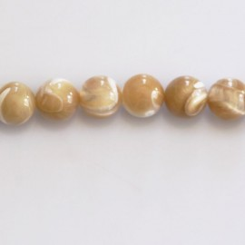 Mother-of-pearl 8 mm beige round bead
