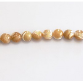 BeauMonde Jewelry - Bead 6 mm round mother-of-pearl beige