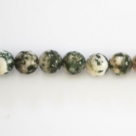 Agate tree 8 mm round bead