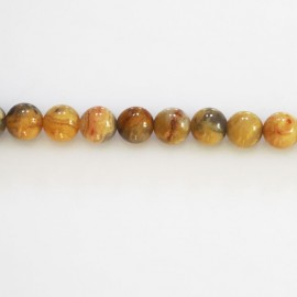 Agate crasy lace 6 mm perle ronde