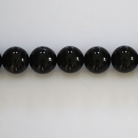 Agate 10 mm round bead finely veined