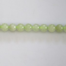New jade 6 mm round bead