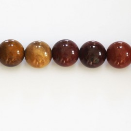 Mokaite 10/11 mm round bead