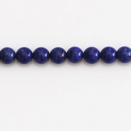 Lapis lazuli 6 mm round bead quality A Afghanistan