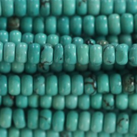 Howlite 3x4 mm rondelle turquoise