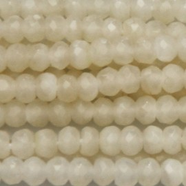 BeauMonde Jewelry - Washer white mother-of-pearl faceted 4x3 mm