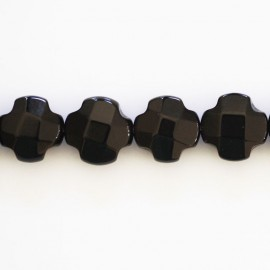 BeauMonde Jewelry - Onyx 10 mm faceted flower 4 petals