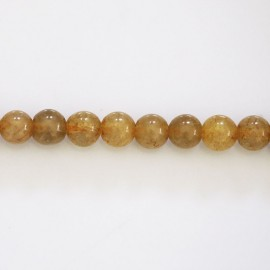 BeauMonde Jewelry - Quartz golden rutile 6 mm round bead