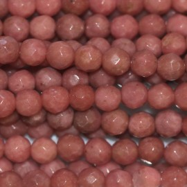 BeauMonde Bijoux - Rhodonite nouvelle 4 mm perle ronde facetée Chine