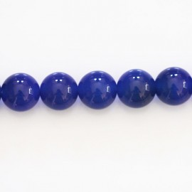 Agate blue 10 mm round bead
