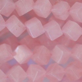 Quartz rose 6 mm cube diagonal