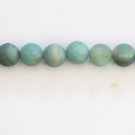 Amazonite mate 8 mm perle ronde