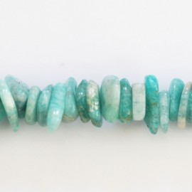 Amazonite 17/18 mm environ gros chips