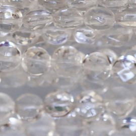 BeauMonde Jewelry - Rock crystal 6 mm round flat faceted medallion