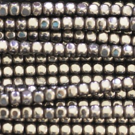 BeauMonde Jewelry - Silver hematite 3x3 mm rounded square