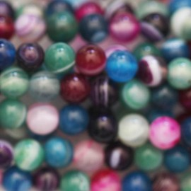 BeauMonde Jewelry - Agate 4 mm multi-veined round bead