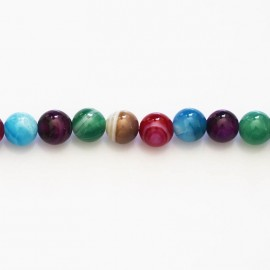 Agate 6 mm multi-veined round bead