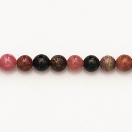 BeauMonde Jewelry - Tourmaline 6 mm round mixed bead quality A