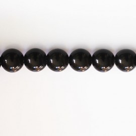 Obsidienne noire rainbow 8 mm perle ronde