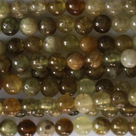 BeauMonde Jewelry - Garnet green 4 mm round bead