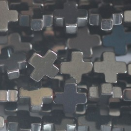 BeauMonde Jewelry - Hematite 6x6 mm cross