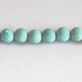 Howlite turquoise 8 mm perle ronde mat Chine