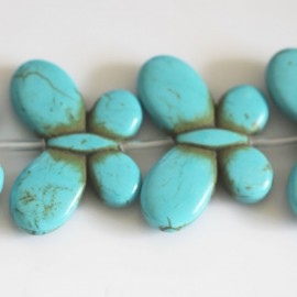 Howlite 35x25 mm butterfly